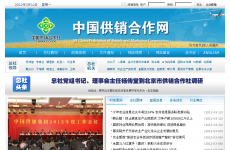 中国供销合作网首页图片